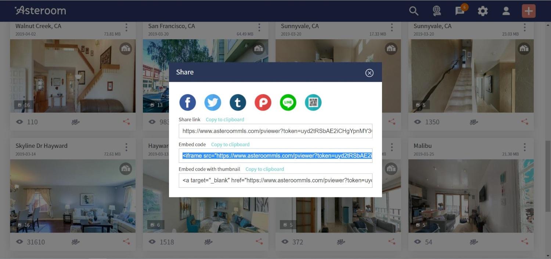 web share link